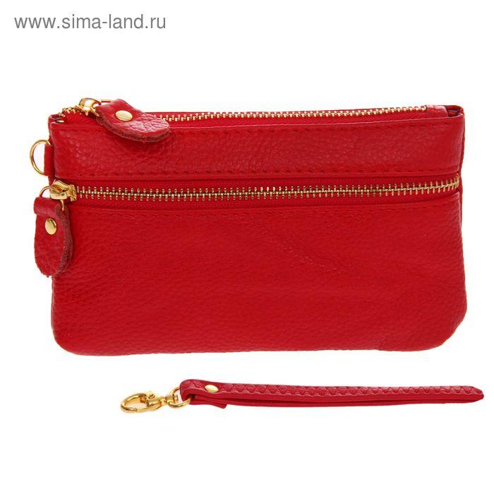 """Кошелёк женский """"Диана"""", 1 отдел, 1 наружный карман, с ручкой, красный"""
