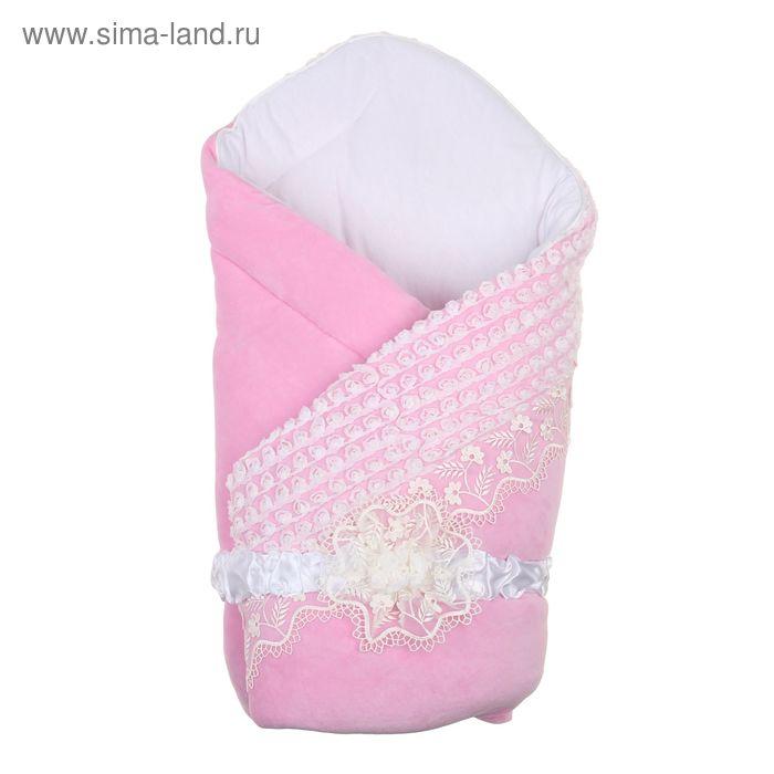 """Комплект на выписку зимний """"Белоснежка"""", 7 предметов, цвет розовый"""