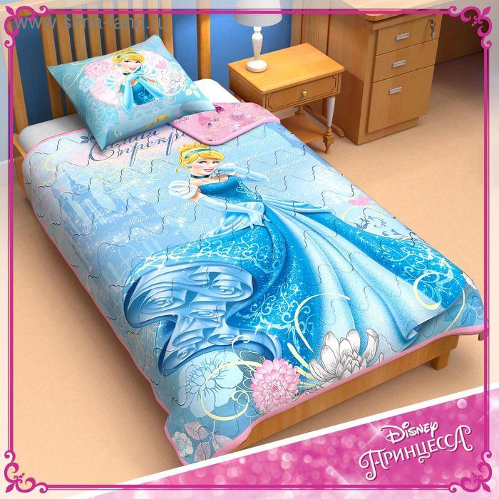 """Одеяло панно 1,5 сп """"Принцессы"""" 140*205 см леб.пух, поплин, 200 г/м2"""