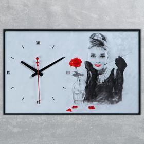 """Часы настенные, серия: Люди, """"Одри Хепберн"""", 57х35х4"""