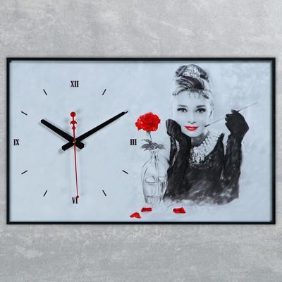 """Часы настенные, серия: Люди, """"Одри Хепберн"""", 37х60 см"""