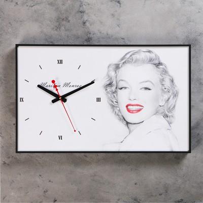 """Часы настенные, серия: Люди, """"Мэрилин Монро"""", 37х60 см"""
