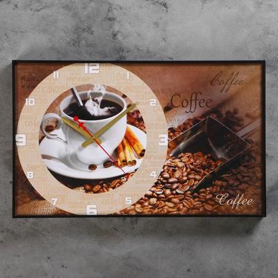 "Часы настенные, серия: Кухня, ""Coffee"", 37х60  см, микс"