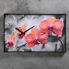 "Часы настенные, серия: Цветы, ""Орхидеи"", 57х35х4 см"