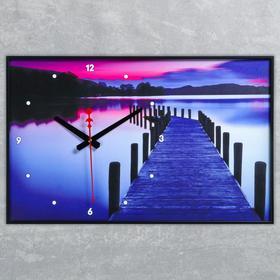 """Часы настенные, серия: Природа, """"Пирс на озере"""", 57х35х4  см, микс"""