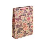 """Пакет крафт """"Цветные бабочки"""", 23 х 8,5 х 32 см"""
