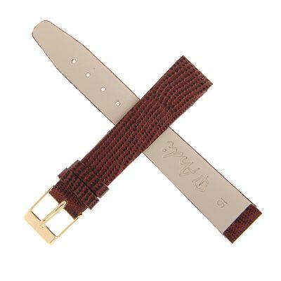 Ремешок для часов, мужской, 16 мм, темно-коричневый, фактура ящерица микс