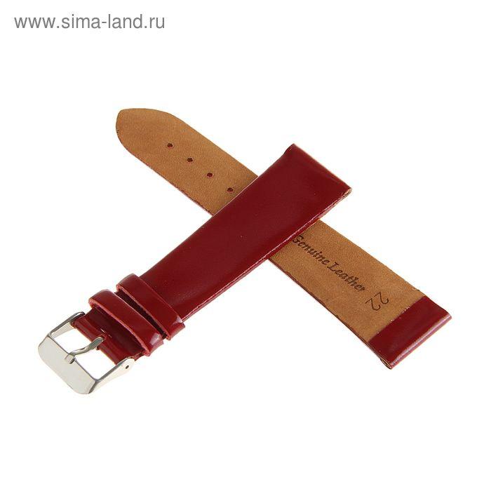Ремень кожаный, присоед. р-р 22 мм, бордо