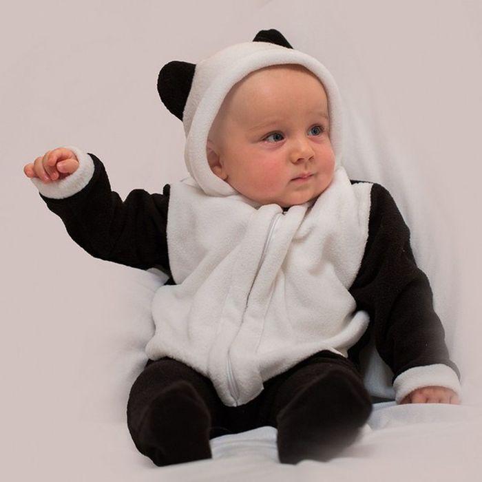 """Детский карнавальный костюм """"Малышка-панда"""": комбинезон, на 6-9 месяцев (рост 75 см)"""
