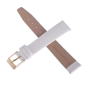 Watchband, male, 16 mm, white
