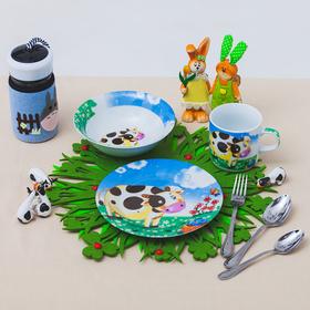 Набор детской посуды «Гаврюша», 3 предмета: кружка 230 мл, миска 400 мл, тарелка 18 см