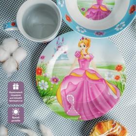 Набор детской посуды «Волшебница», 3 предмета: кружка 230 мл, миска 400 мл, тарелка 18 см