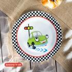 Набор детской посуды «Светофор», 3 предмета: кружка 230 мл, миска 400 мл, тарелка 18 см - фото 105458227