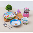 Набор детской посуды «Пони», 3 предмета: кружка 230 мл, миска 400 мл, тарелка 18 см - фото 105458236