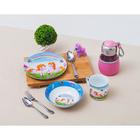 Набор детской посуды «Пони», 3 предмета: кружка 230 мл, миска 400 мл, тарелка 18 см - фото 105458237