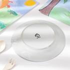 Набор детской посуды Доляна «Заяц футболист», 3 предмета: кружка 230 мл, миска 400 мл, тарелка 18 см - фото 106538528