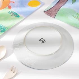Набор детской посуды «Заяц футболист», 3 предмета: кружка 230 мл, миска 400 мл, тарелка 18 см