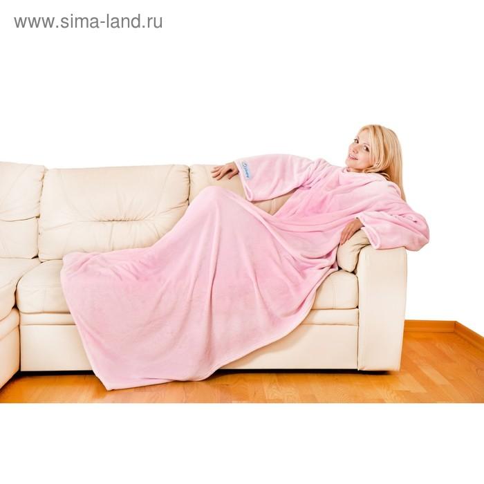 Плед с рукавами Sleepy, размер 140х180 см, 60х33 см, 250 гр/м2, цвет розовый