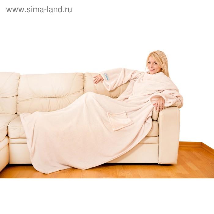 Плед с рукавами Sleepy, размер 150х200 см, 60х33 см, карман - 22х20 см, 250 гр/м2, цвет бежевый