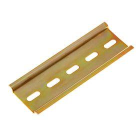 DIN rail 100 L, galvanized, color yellow
