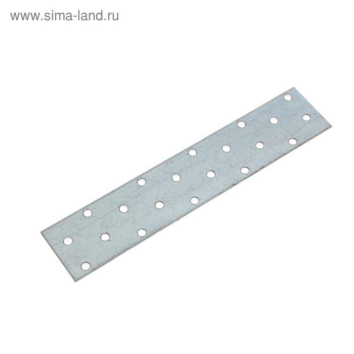 Пластина крепёжная, 40 х 200 х 2 мм, оцинкованная