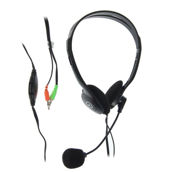 Наушники с микрофоном DEFENDER Aura HN-102, накладные, кабель 1.8 м, чёрные