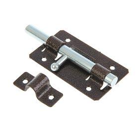 Задвижка дверная ЗД-01, покрытие полимер, медная