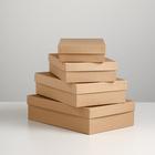 "Набор коробок 4 в 1 ""Крафт однотонный"", 30 х 20 х 8 - 24 х 14 х 5 см"
