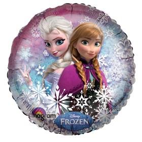"""Шар фольгированный 18"""" """"Frozen"""", круг, 18"""""""
