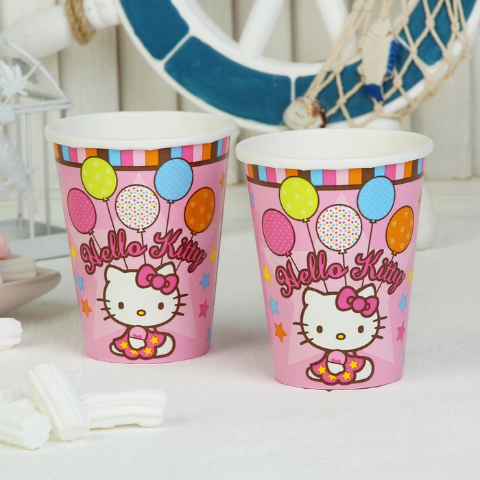Набор стаканов Hello Kitty, 8 шт., 260 мл