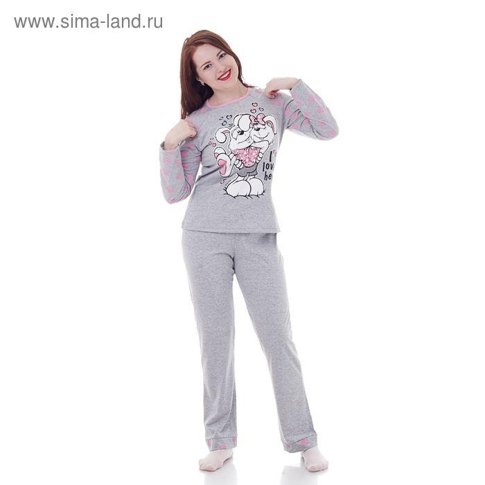 Комплект женский (фуфайка, брюки) М310 МИКС, р-р 44 кулирка