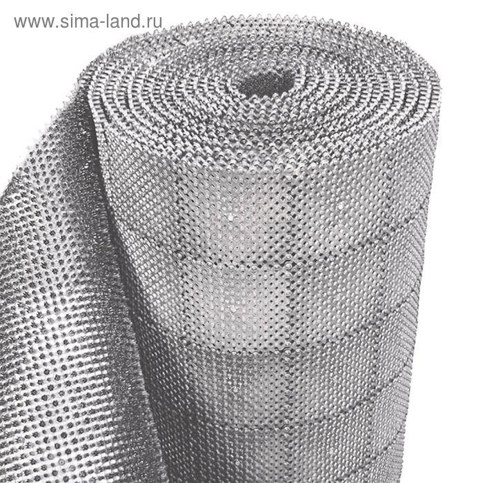 """Покрытие ковровое щетинистое, ширина 98 см, рулон 11,8 м """"Травка"""", цвет серый"""