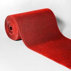 Покрытие ковровое щетинистое «Травка», 0,9×15 м, в рулоне, цвет красный