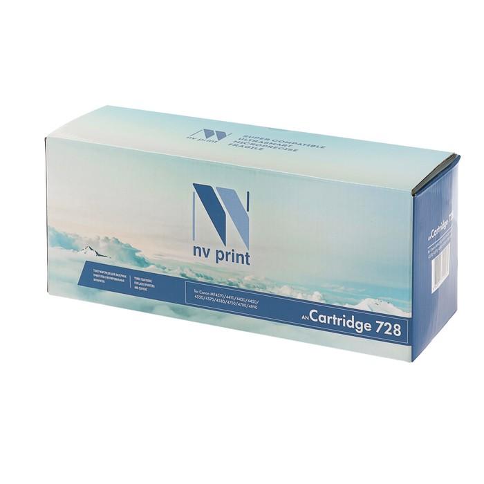 Картридж NV PRINT 728 для Canon i-SENSYS MF4370/4410/4430/4450/4550/4570/4580 (2100k),черный - фото 408710453