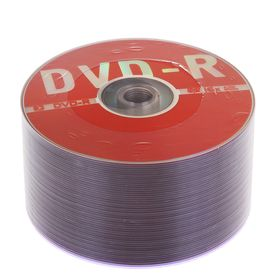 Диск DVD-R Data Standard, 16x, 4.7 Гб, спайка, 50 шт Ош