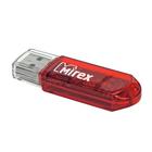 Флешка USB2.0 Mirex ELF RED, 8 Гб, чт до 25 Мб/с, зап до 15 Мб/с, красная
