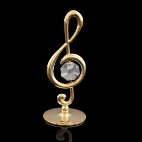 Сувенир «Скрипичный ключ», 3,2×3,2×8 см, с кристаллом Сваровски