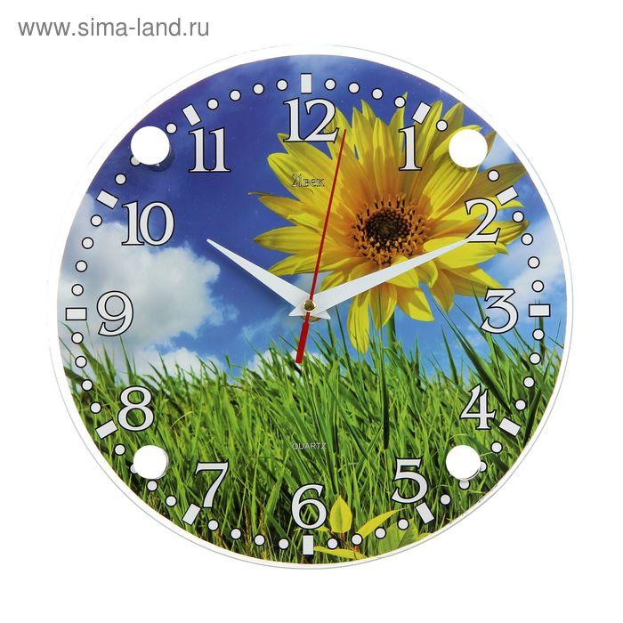 """Часы настенные круглые """"Подсолнух"""", 24 см"""