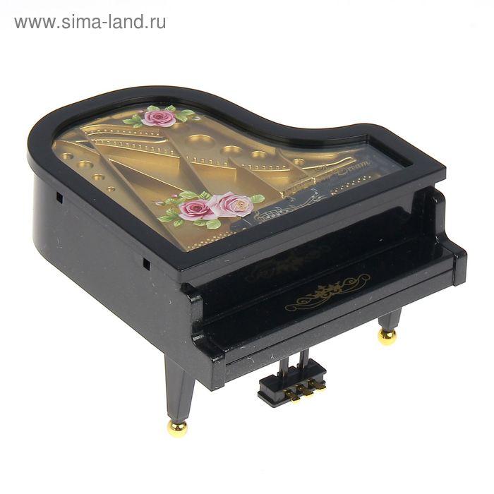 """Шкатулка музыкальная """"Пианино с розами на крышке"""" МИКС"""