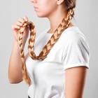 "Коса на резинке ""Блондинка"", длина 80 см"