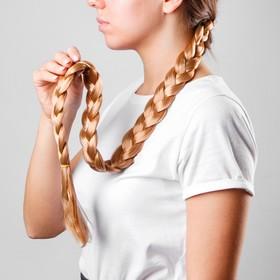 Коса на резинке «Блондинка», длина 70 см в Донецке