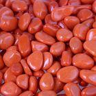 """Грунт для аквариума """"Галька цветная,  оранжевая"""" 800г фр 8-12 мм"""