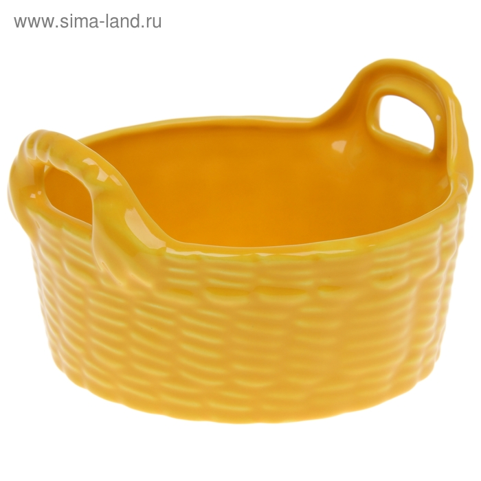Корзинка, цвет желтый