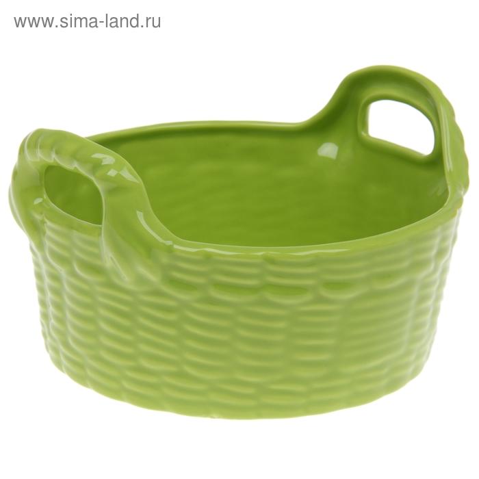 Корзинка, цвет зеленый