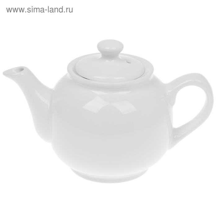 Чайник 600 мл, цвет белый