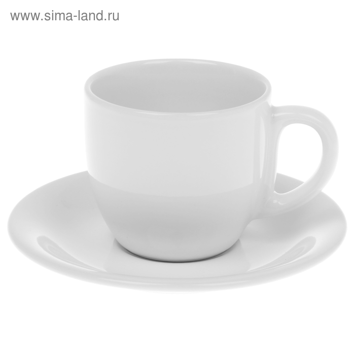 Чайная пара 200 мл, цвет белый