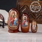 Матрёшка «Православная», Иверская, Спас Нерукотворный, Николай Чудотворец