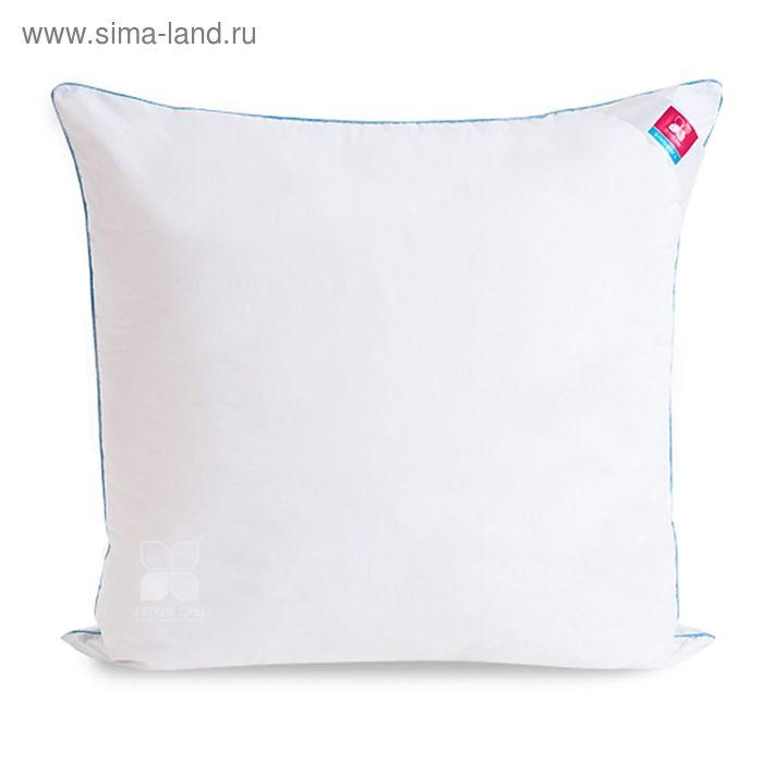 Подушка Лель средняя 68х68 см, искус.лебяжий пух, тик белый