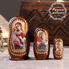 Матрёшка «Православная», 3 кукольная, Владимирская, Иверская, Почаевская