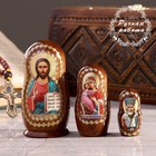 Матрёшка «Православная» 3 кукольная, Спас, Владимирская, Николай Чудотворец